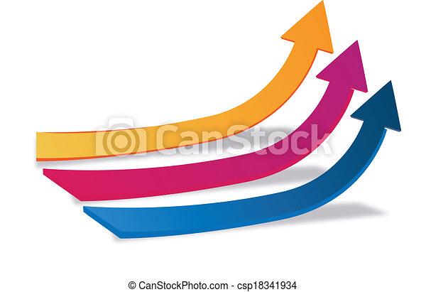 ロゴ, 成長, 矢, ビジネス - csp18341934