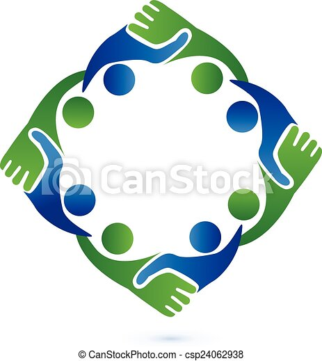 ロゴ, 握手, チームワーク, ビジネス - csp24062938