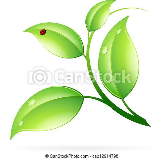ロゴ, 概念, エコロジー - csp12914798