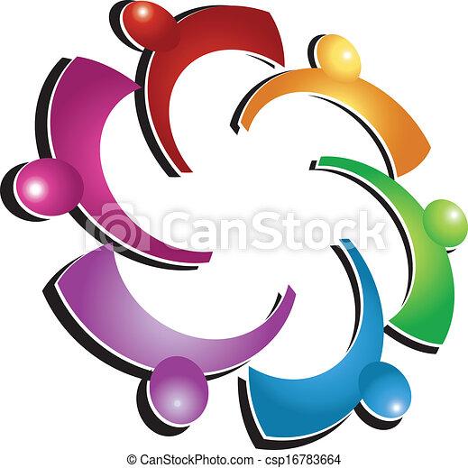 ロゴ, 社会, チームワーク, 人々 - csp16783664