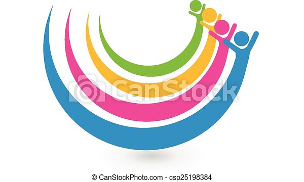 ロゴ, 統一, 概念, 友人, 幸せ - csp25198384