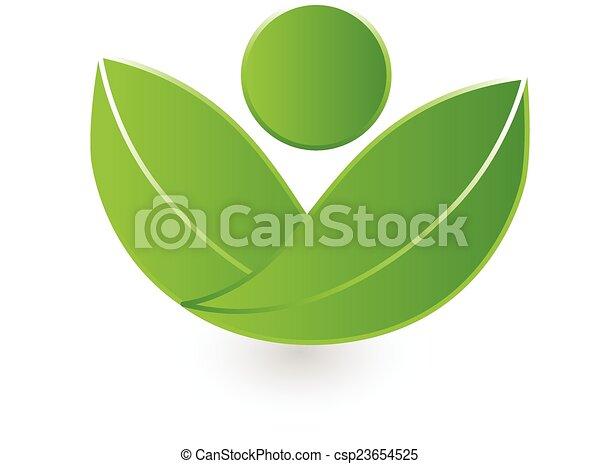 ロゴ, 自然, ベクトル, 健康 - csp23654525