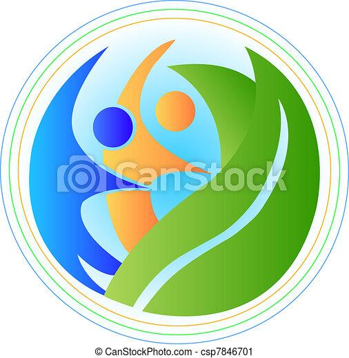 ロゴ, 調和, 人々 - csp7846701