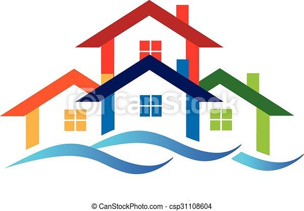 ロゴ, 財産, 実質, 家 - csp31108604