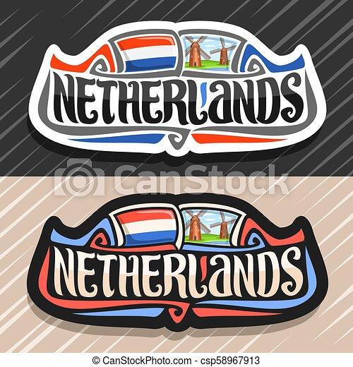 ロゴ, netherlands, ベクトル - csp58967913
