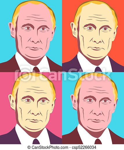 ロシア人 大統領 イラスト 10 Putin 連合 Vladimir Warhol