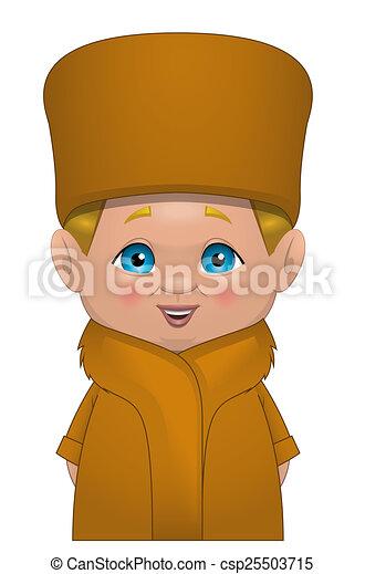 ロシア人 子供 ロシア人 白い背景 イラスト 子供