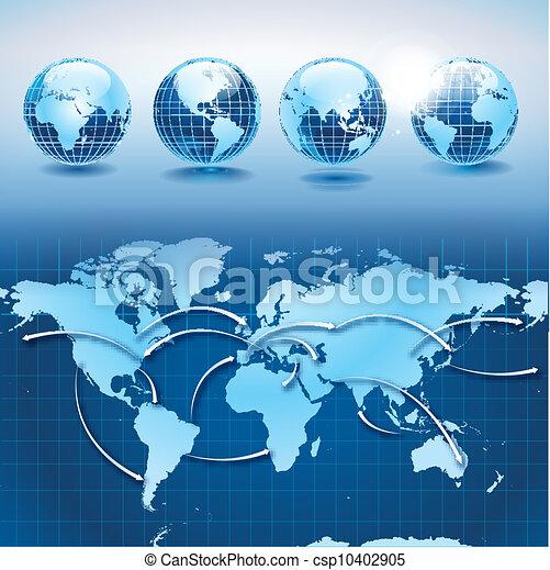 ロジスティクス, 世界, 交通機関 - csp10402905