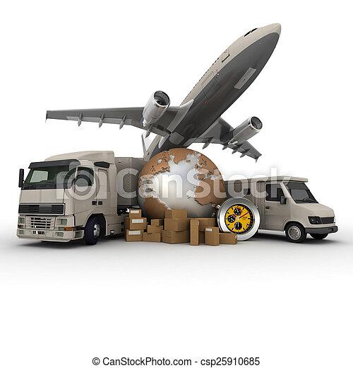 ロジスティクス, 交通機関 - csp25910685