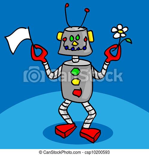 ロボット, 平和である - csp10200593