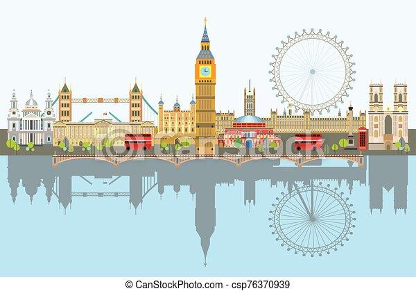 ロンドン, ベクトル, スカイライン, 3 - csp76370939