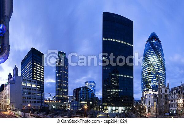 ロンドン, twilight., 財政 地区 - csp2041624