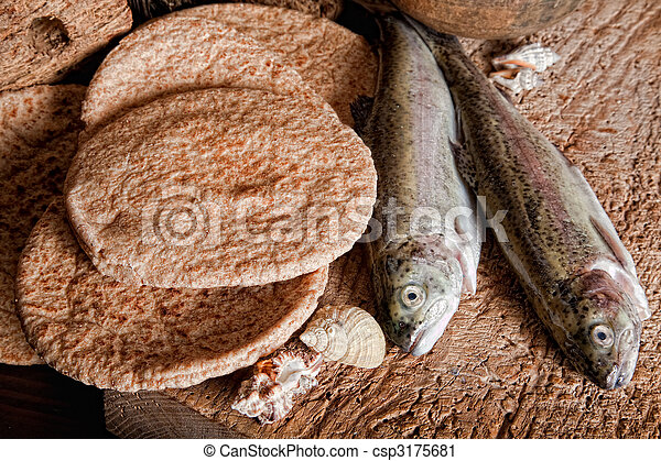 ローフ, fish, 5, 2, bread - csp3175681