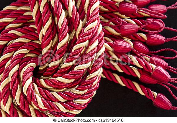ロープ, カーテン, 絹, tassels., 山 - csp13164516