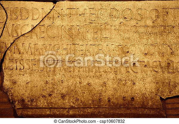 ローマ人, 手紙, 手ざわり - csp10607832