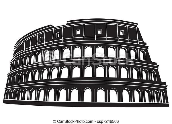 ローマ, colosseum, イタリア - csp7246506