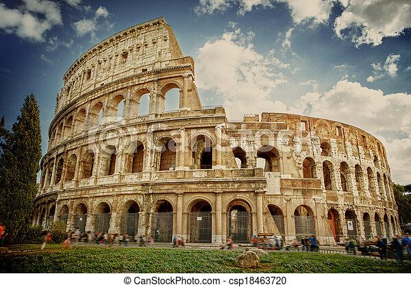 ローマ, colosseum, イタリア - csp18463720