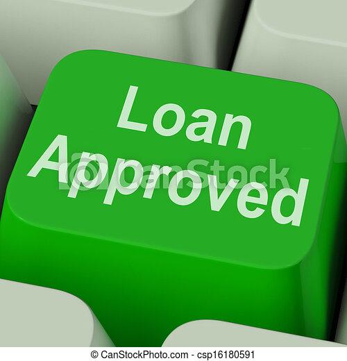 ローン, 合意, 公認, クレジット, キー, 貸し付け, ショー - csp16180591