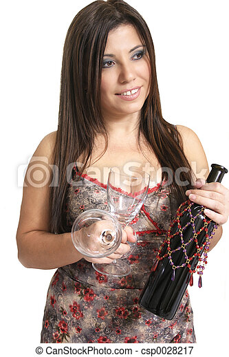 ワイン, 女 - csp0028217