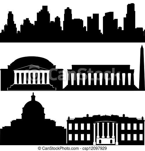 ワシントン, 建築 - csp12097929