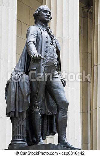 ワシントン, georges, 像 - csp0810142