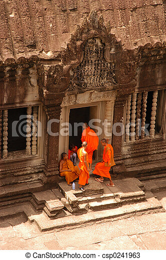 ワット, 修道士, angkor - csp0241963