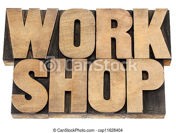ワークショップ, 木, タイプ, 単語 - csp11628404