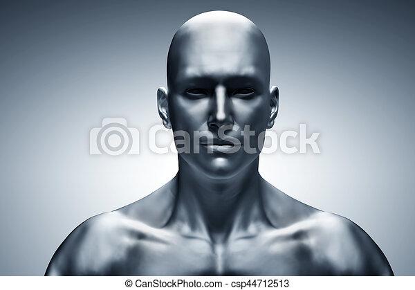 一般, 臉, 人類, 前面, 觀點。, 未來, 人 - csp44712513