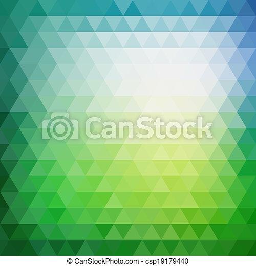 三角形, パターン, 形, レトロ, 幾何学的, モザイク - csp19179440