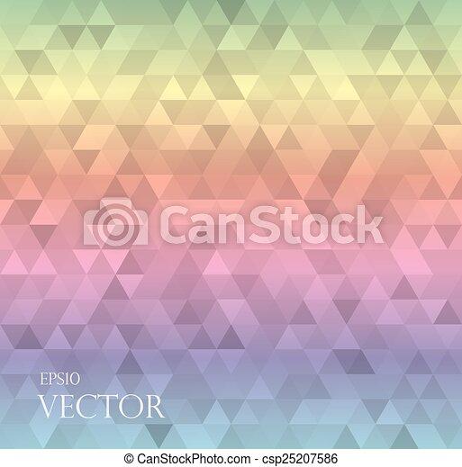 三角形, 抽象的, 現代, 白い背景 - csp25207586