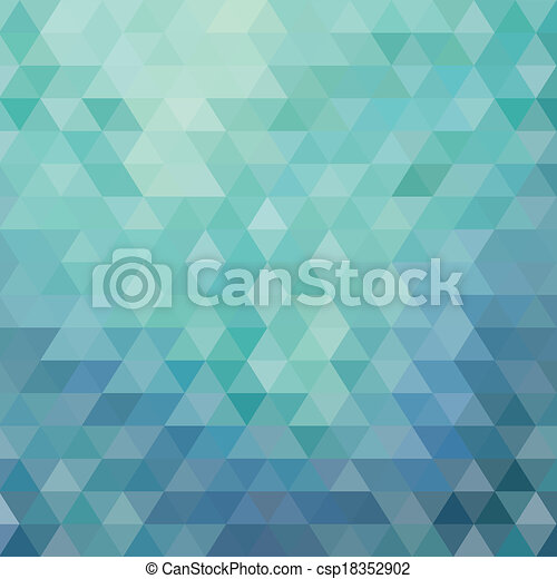 三角形, 藍色, 摘要, 背景 - csp18352902