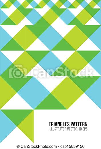 三角形, pattern., 摘要, 鮮艷 - csp15859156