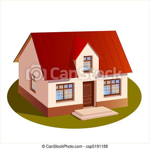 三, 房子, 尺寸, 模型, 家庭 - csp5191188
