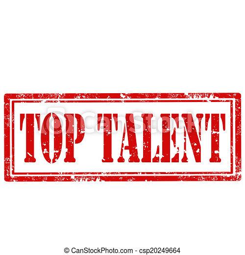 上, talent-stamp - csp20249664