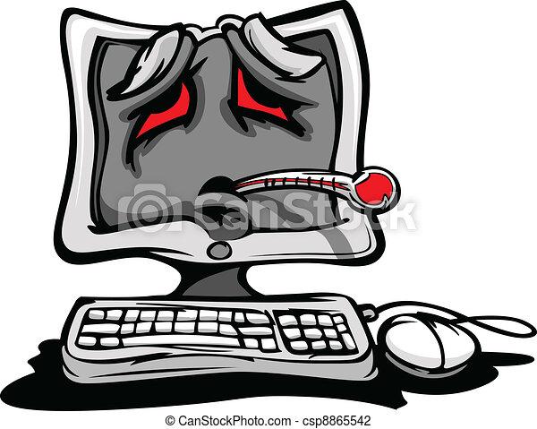 下方に, 壊される, コンピュータ, ∥あるいは∥, 病気 - csp8865542