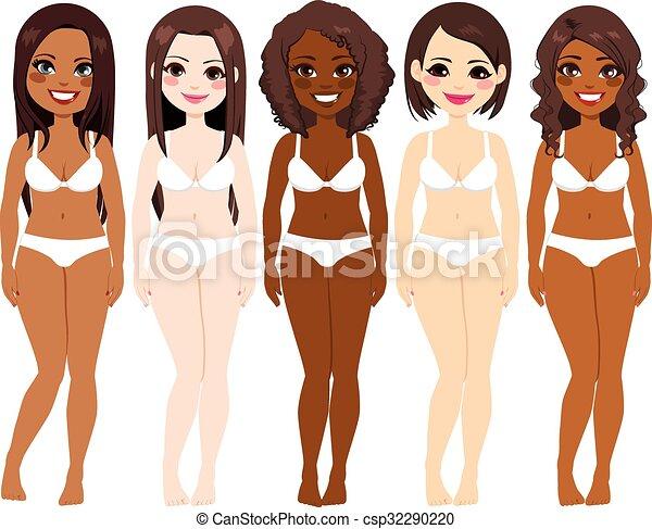 下着, 多様性, 女性 - csp32290220
