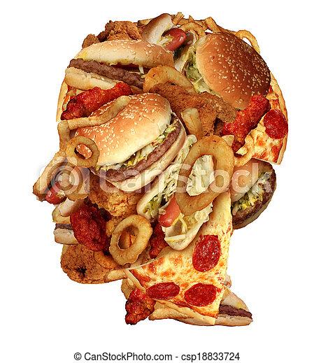 不健康な 食事療法 - csp18833724