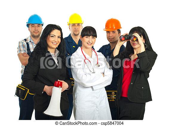 不同, 工人, 人們 - csp5847004