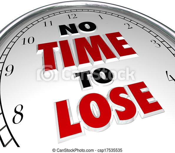 不, 鐘, 倒計時, 輸, 最終期限, 詞, 時間 - csp17535535