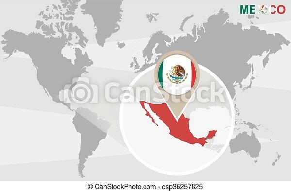 世界地図 メキシコ 拡大される 地図 メキシコ Mexico