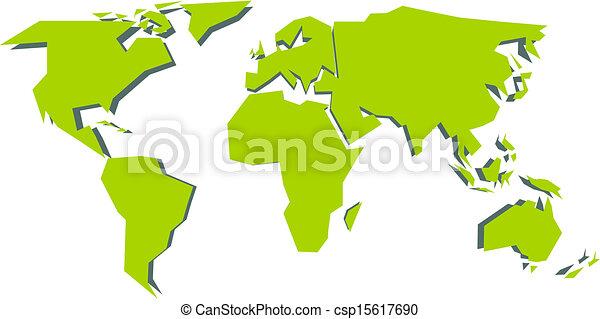 世界地図 世界 Vector 簡単にされている Illustration 地図