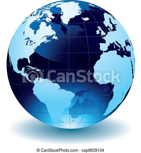 世界地球儀 - csp9839104
