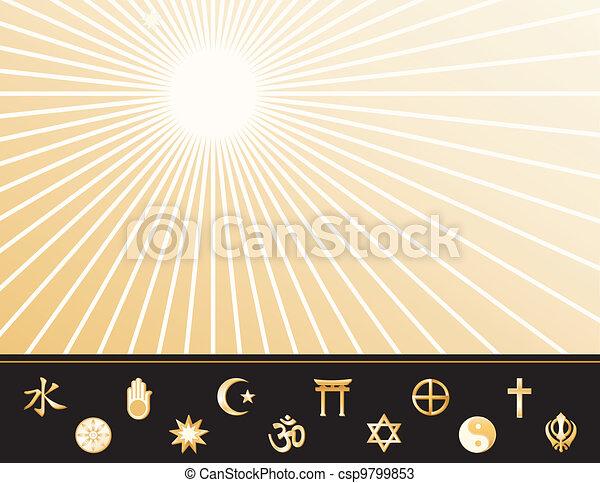 世界宗教, ポスター - csp9799853