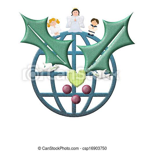 世界平和, 挨拶, クリスマスカード - csp16903750