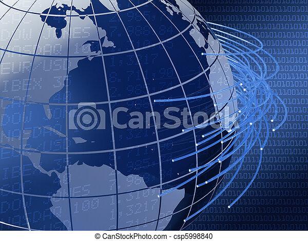 世界的である, デザイン, 遠距離通信, 背景 - csp5998840