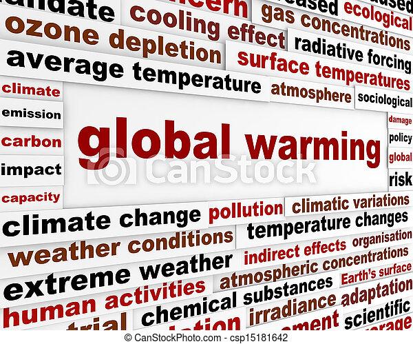 世界的である, メッセージ, 概念, 暖まること - csp15181642