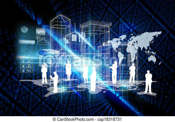 世界的である, 合成, 技術, 背景, イメージ - csp18318731
