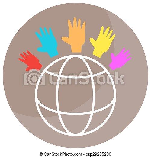 世界的である, 多様性, アイコン - csp29235230