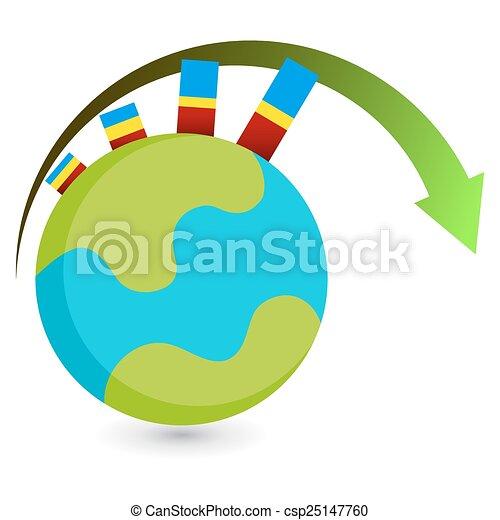 世界的である, 成長, アイコン - csp25147760
