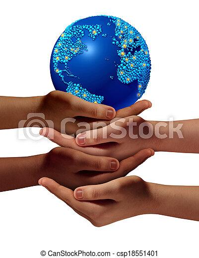 世界的である, 教育, 共同体 - csp18551401